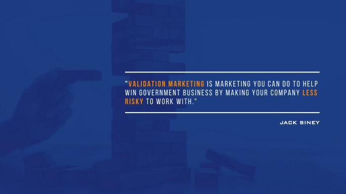 Validation Marketing
