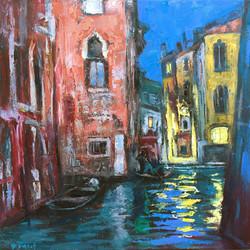 Night Canal, Venice