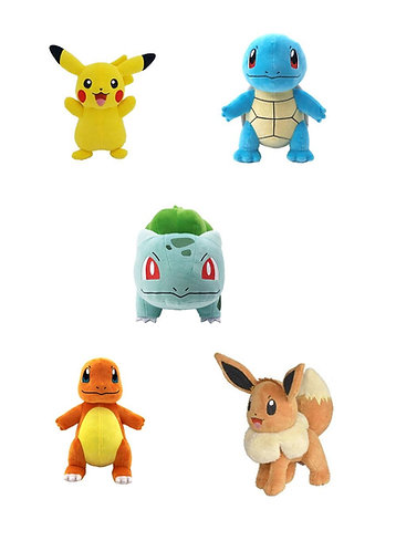 30cm Plushies Pikachu,Charmander,Squirtle,Bulbasaur,Eevee
