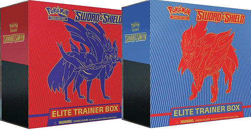 Pokemon - Sword & Shield - Base Set - Elite Trainer Box - Zamazenta & Zacian