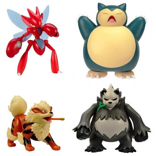 "Pokemon -4.5"" Battle Figure Snorlax/Arcanine/Scizor/Pangoro"