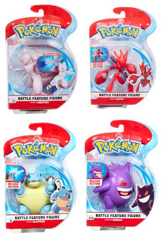 Pokemon - 4.5 Inch Battle Figure - Mewtwo, Scizor, Blastoise, Gengar