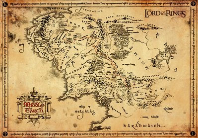 Lord of The Rings - Parchment Map