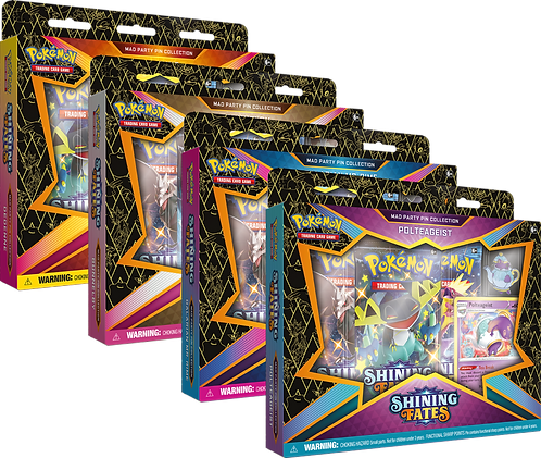 Pokémon TCG: Shining Fates Mad Party Pin Collection (SWSH 4.5)