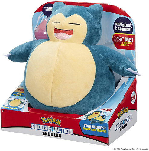 Pokemon - Snooze Action Snorlax