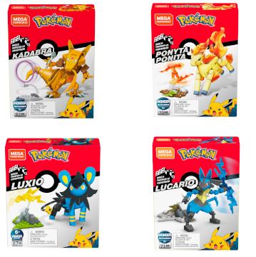 Mega Construx Pokemon - Kadabra/Lucario/Ponyta/Luxio