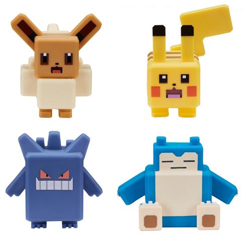 Pokemon - 4 Inch Quest Vinyl Figures Pikachu/Snorlax/Eevee/Gengar