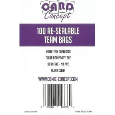 Card Concept - Team Bags - Resealable Sleeves 100 pack