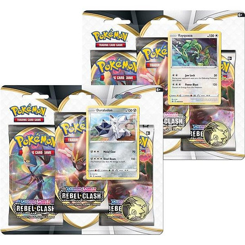Pokemon - Rebel Clash - Triple Blister Pack Rayquaza / Duraludon