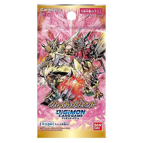 Digimon - Japanese - BT04 Great Legends booster pack/box