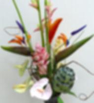 Тропические цветы из японской полимерной глины