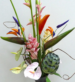 Тропические цветы из полимерной глины