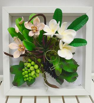 Панно цветы из полимерной глины