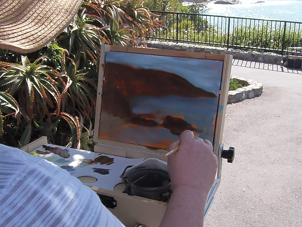 Persons view of painting plein air
