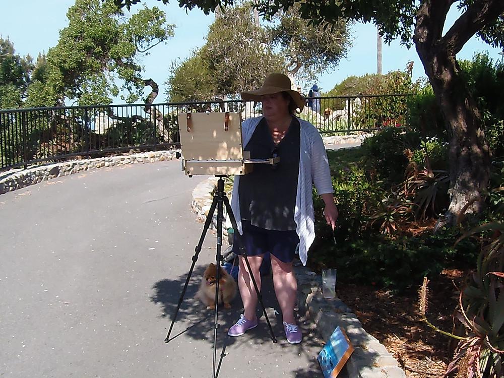 Plein Air Painter with Dog
