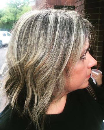 #blonde#ash#highlights