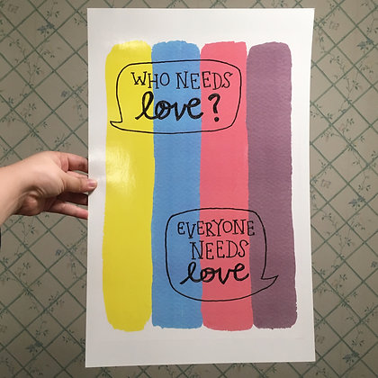 WHO NEEDS LOVE 11x17