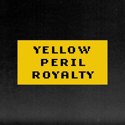 YELLOW PERIL ROYALTY sticker