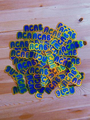 ACAB holographic sticker