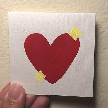 SPARKLY HEART mini card