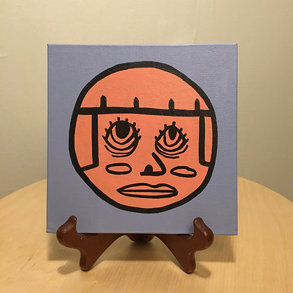 SCARED JENG 6x6 canvas panel