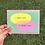 Thumbnail: LOVE YOU MISS YOU postcard