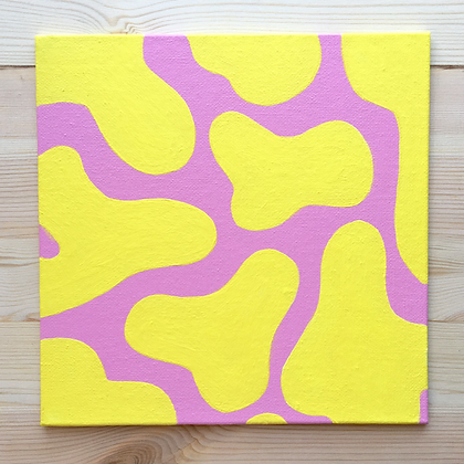 AMOEBAE 8x8 canvas panel