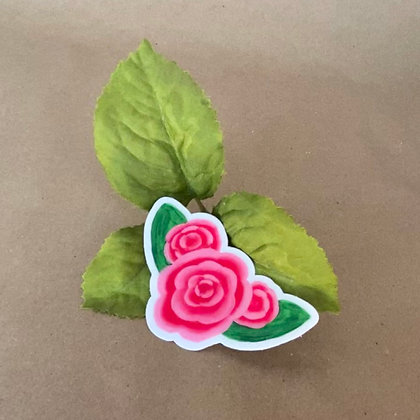*NEW* PAINTED ROSE clear sticker