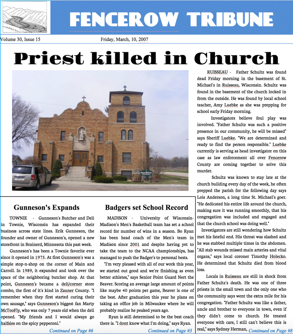 Newspaper - Fencerow Tribune