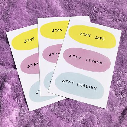 STAY SAFE postcard