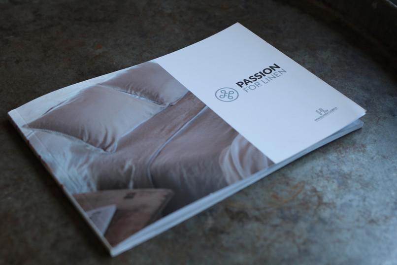 Ontwerp van de product Catalogus voor Passion for Linen en House of Linen