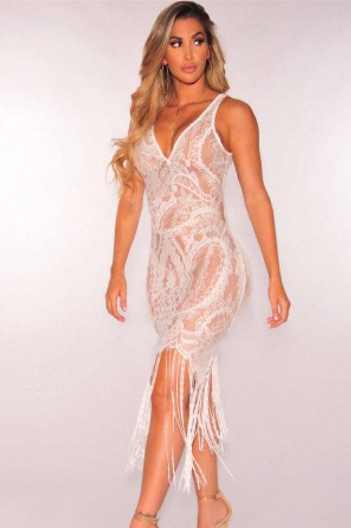 Lace Club Dress V-Neck