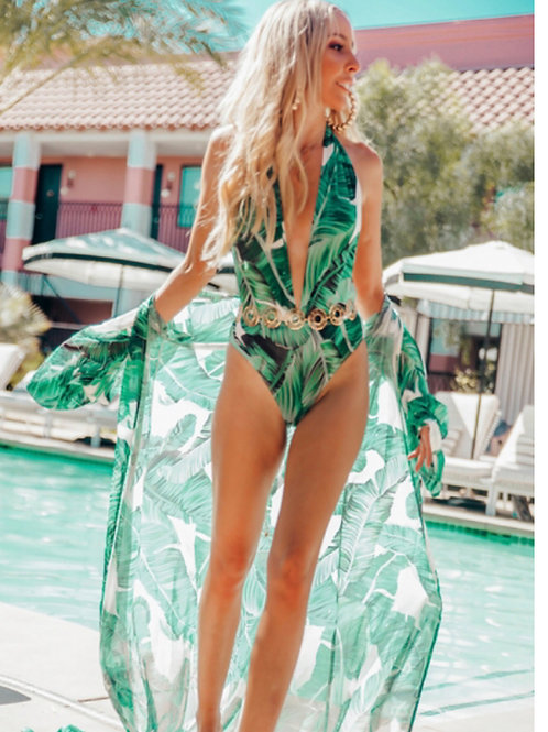 Island swimwear with cover up