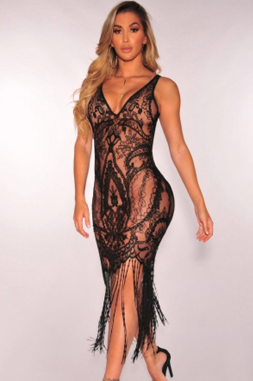 V-neck Lace Club dress