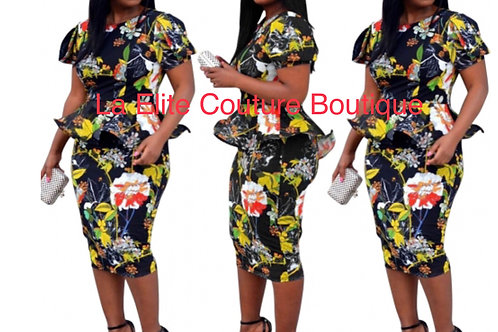 Multi Color BodyCon Dress