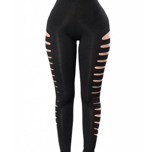Black cut out side leggings