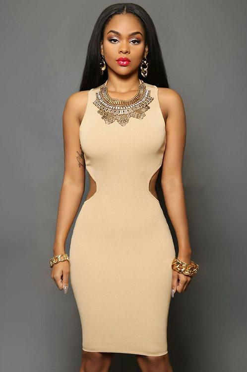 Daring Back Midi Dress