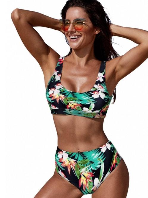 Two piece high waist swimwear