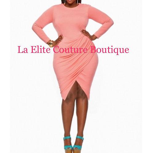 Elegant plus size peace dress