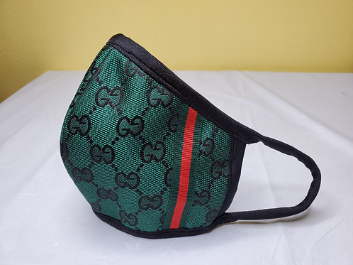 Inspire green GG design Face Mask