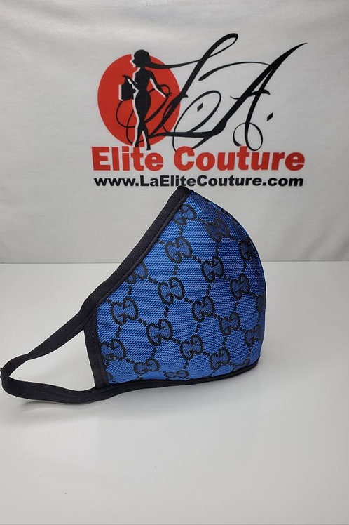 Face Mask GG Blue, Machine washable, Reusable