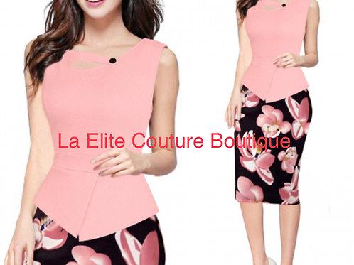 Pink Floral multi purpose dress