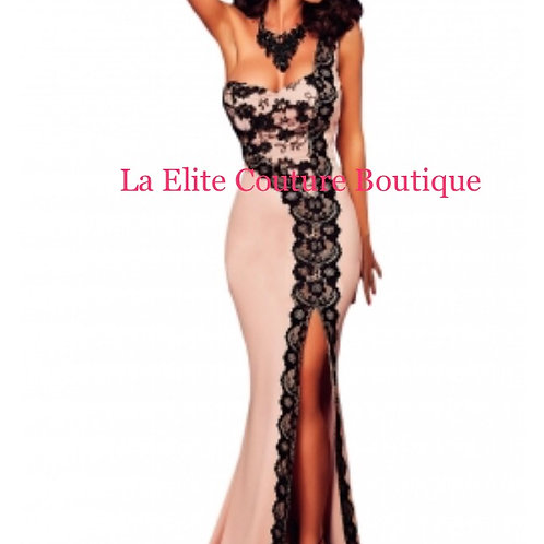 Lace One Shoulder Mermaid Prom Dress