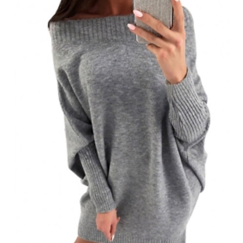Gray stylist long sleeve sweater