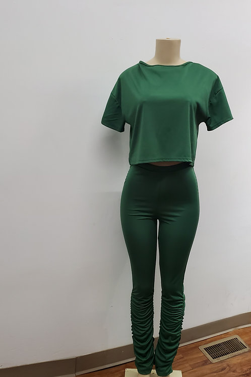 MonaLisa Two Piece green set
