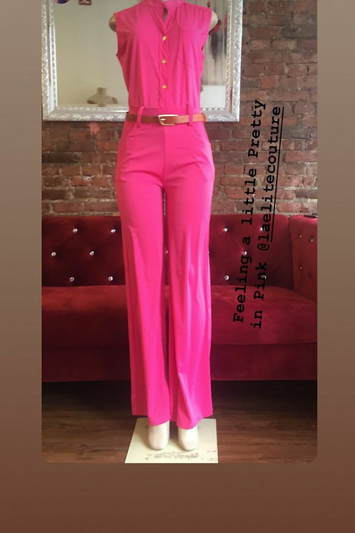 Simply but classy pink jumpsuit