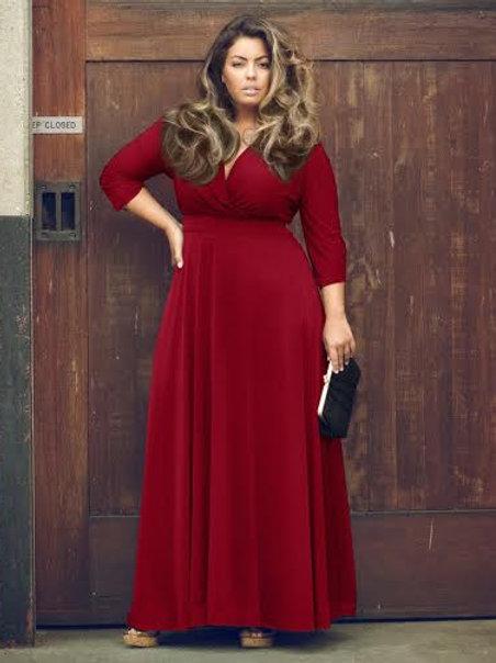 Sexy V-Necked Long Dress