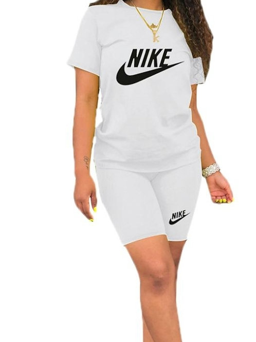 Nike white two piece shorts