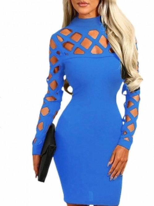 Stunning blue midi dress