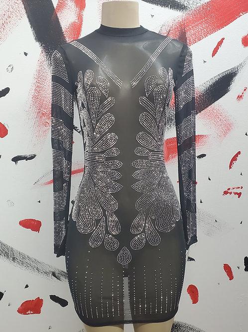 Glo in the Dark long-sleeved mini dress